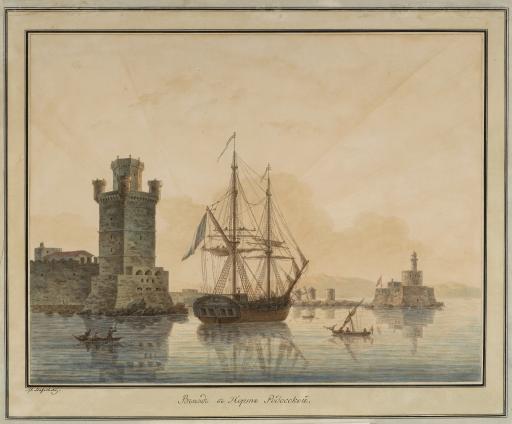 Въезд в Родосский порт