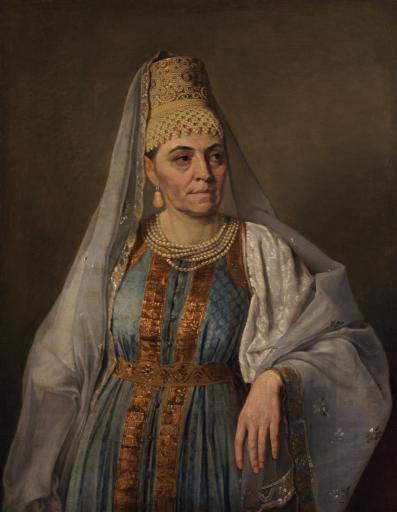 Портрет М.А. Венециановой в русском наряде