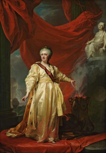 Портрет Екатерины II в виде законодательницы в храме богини Правосудия