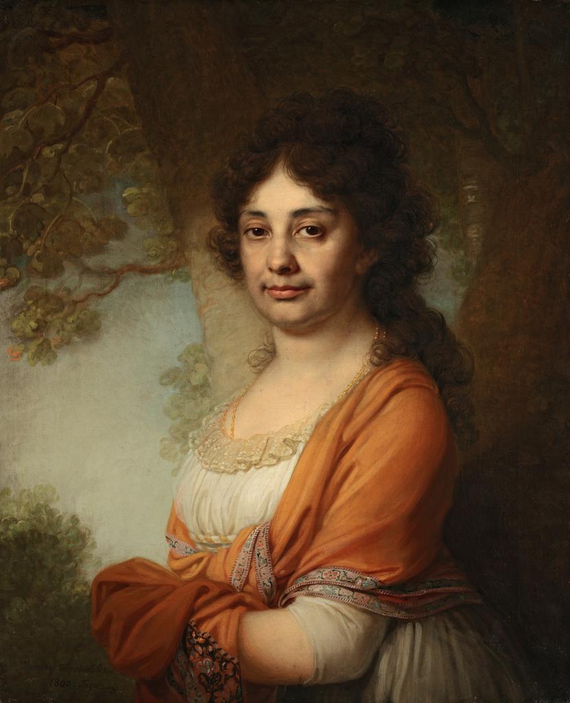 Портрет неизвестной в желтой шали