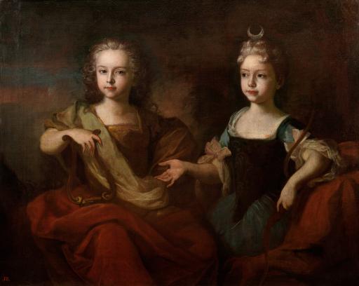 Портрет царевича Петра Алексеевича и царевны Наталии Алексеевны в детском возрасте, в виде Аполлона и Дианы