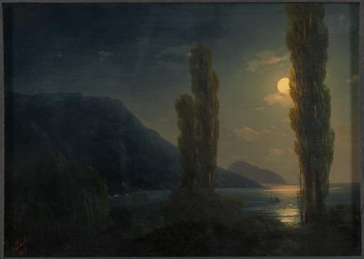 Лунная ночь. Окрестности Ялты