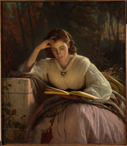 За чтением. Портрет С.Н. Крамской