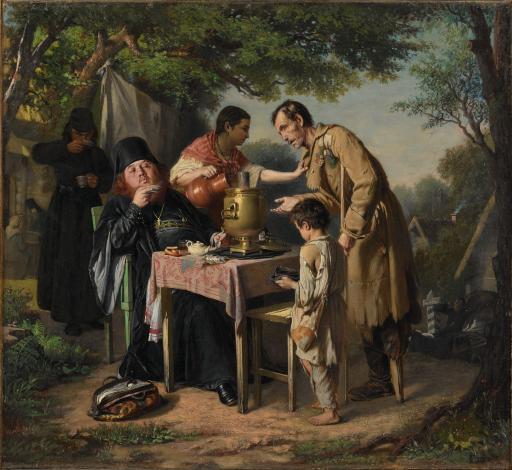 Чаепитие в Мытищах, близ Москвы