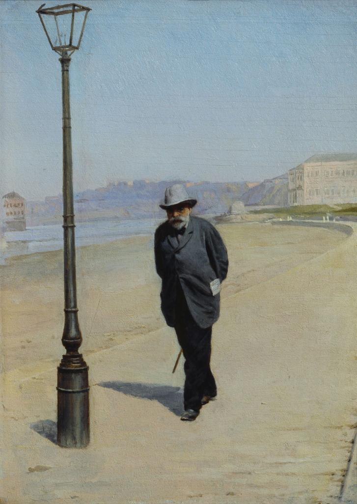 И.В.Щукин на прогулке