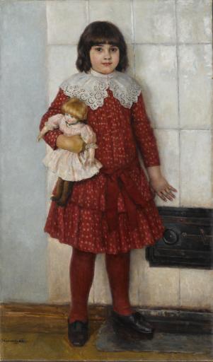 Портрет О.В.Суриковой в детстве