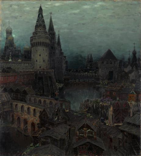 Москва конца XVII столетия. На рассвете у Воскресенских ворот