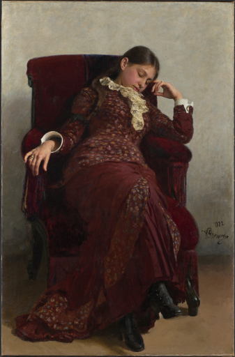 Отдых. Портрет В.А.Репиной, жены художника