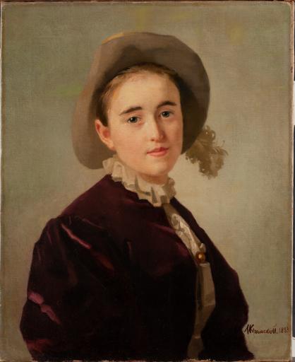 Портрет девочки в фетровой шляпе