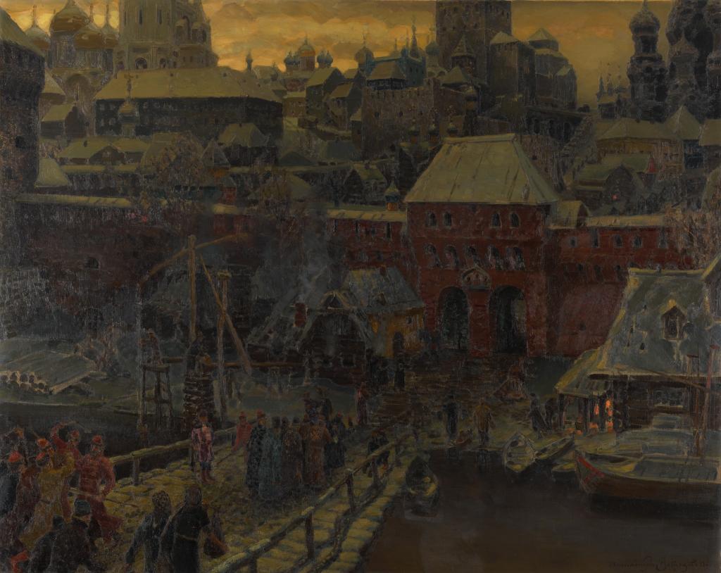 Москва XVII столетия: Москворецкий мост и Водяные ворота