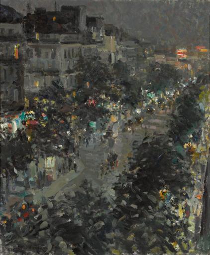 Париж ночью. Итальянский бульвар