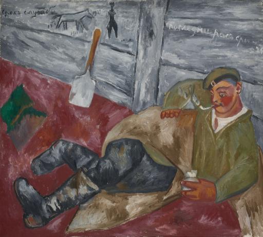 Отдыхающий солдат