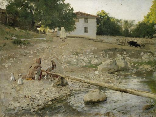 Татарки у реки. Крым