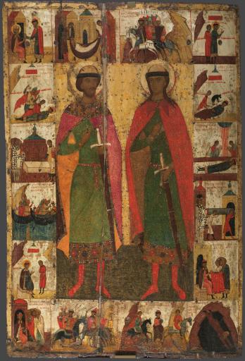 Святые князья Борис и Глеб, с житием