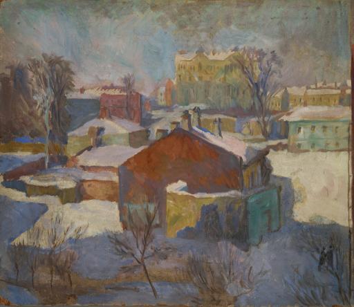 Двор на Чкаловской. Зимнее солнце