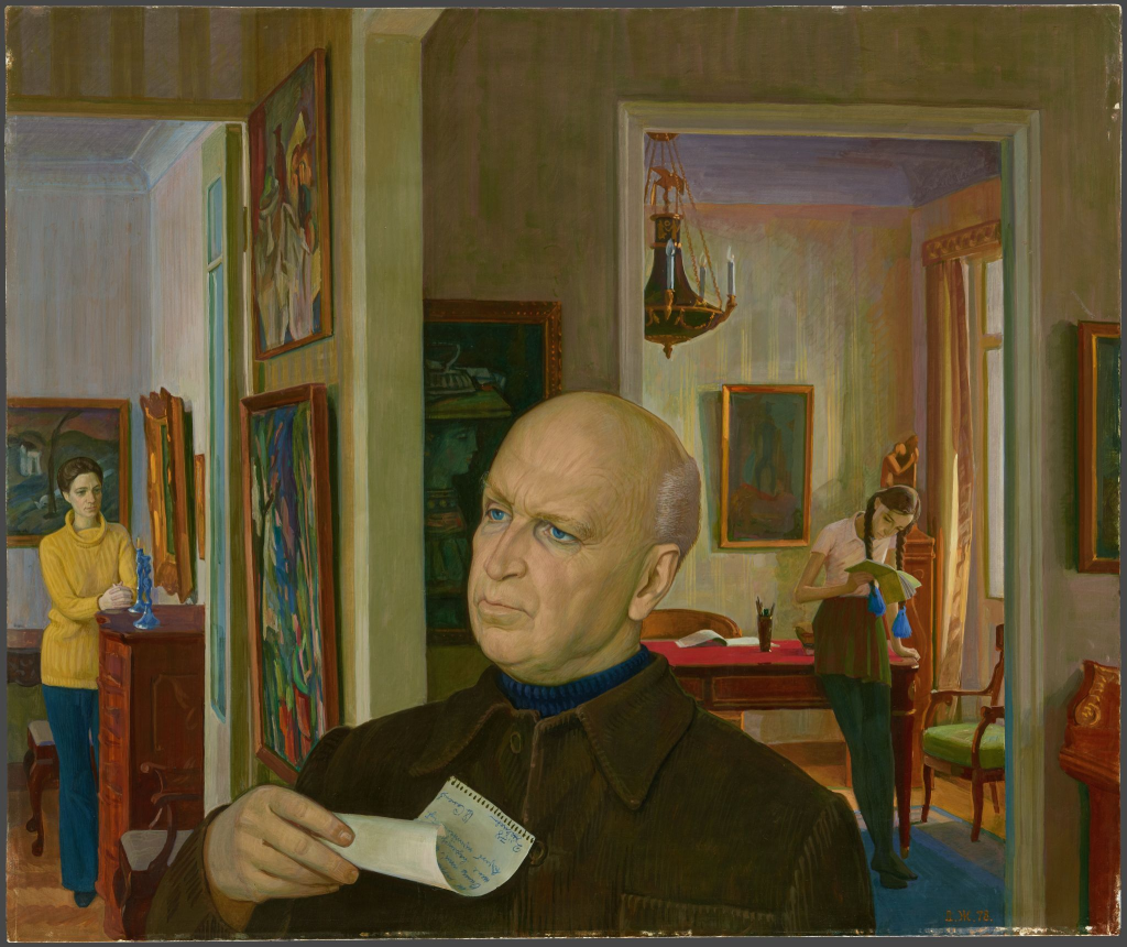 Портрет дипломата В.С. Семенова с женой и дочерью