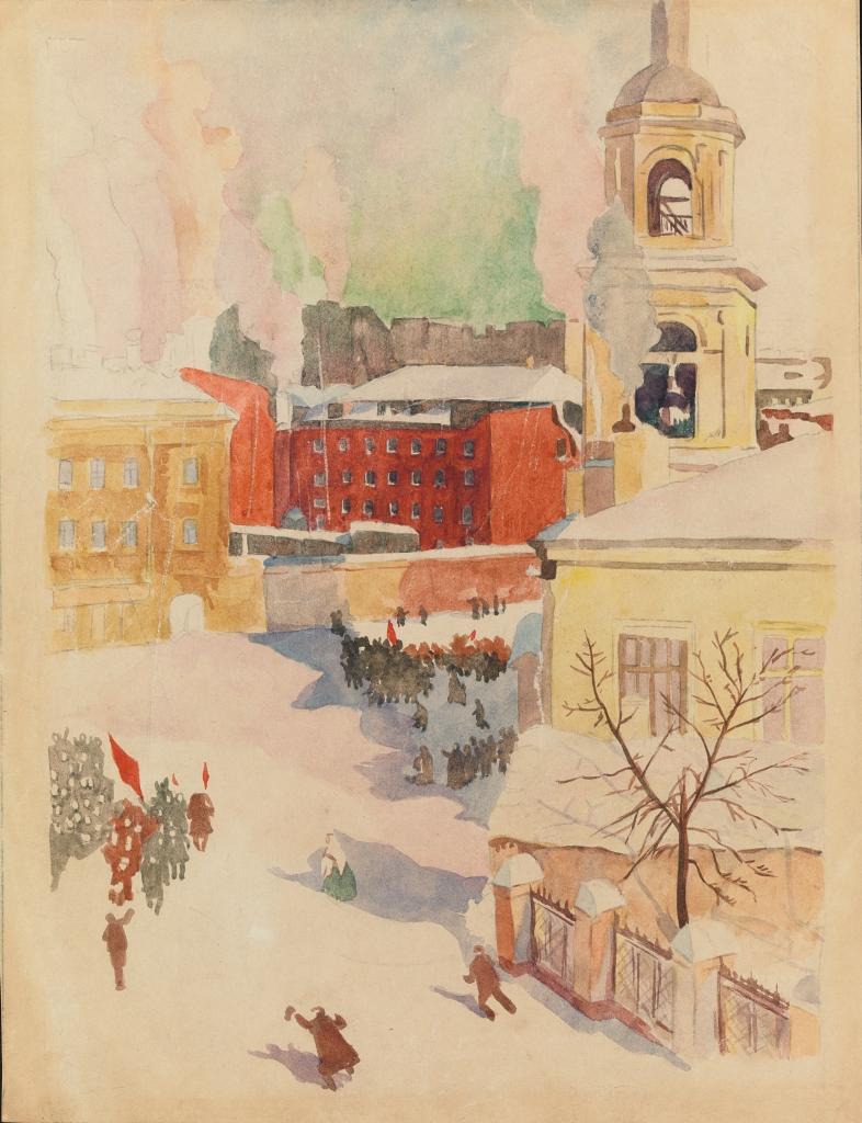 27 февраля 1917 года. Эскиз к одноименной картине