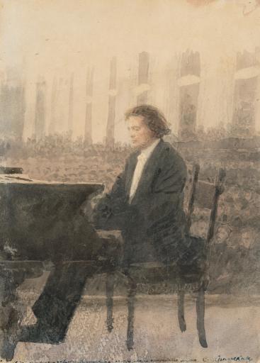 Портрет композитора А.Г. Рубинштейна
