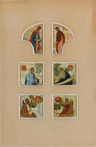 Эскиз росписи царских врат в Марфо-Мариинской обители