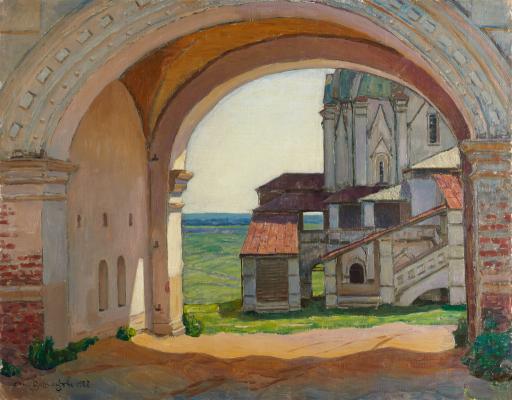 Ворота в башне Часозвон. Село Коломенское