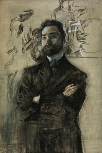 Портрет поэта В.Я. Брюсова