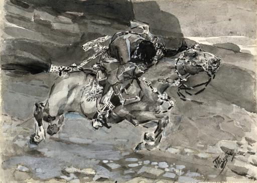 Скачущий всадник. Иллюстрация к поэме М.Ю.Лермонтова «Демон»