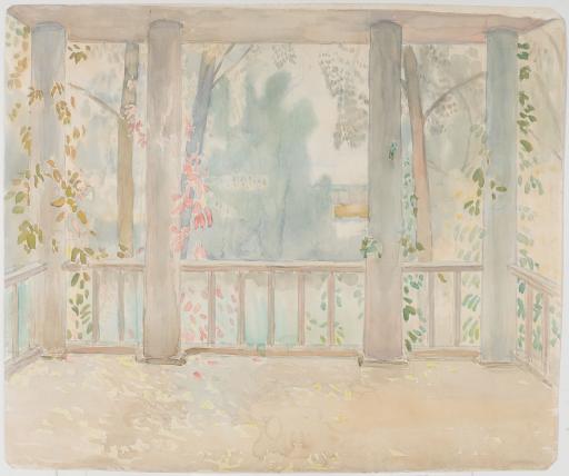 Балкон осенью