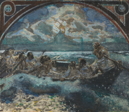 Хождение по водам. Эскиз стенной росписи