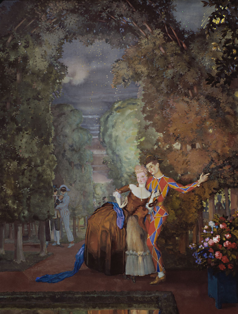 Арлекин и дама