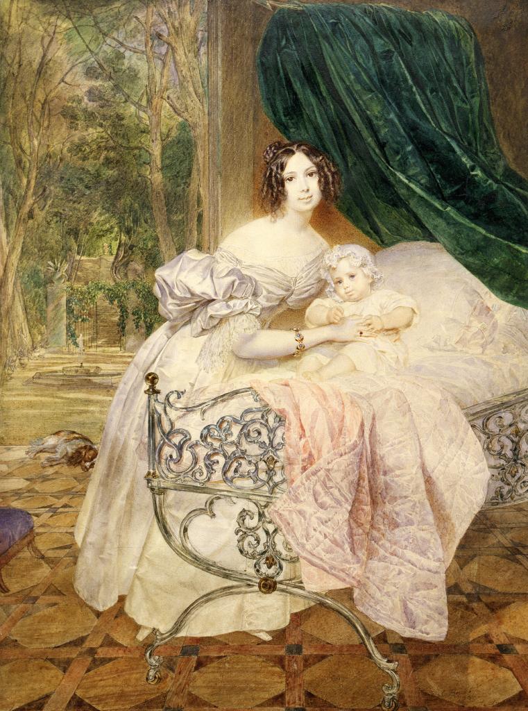 Портрет М.И.Бутеневой с дочерью Марией